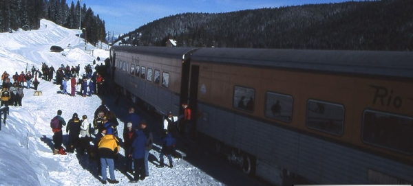 Ski Train Unloading in 2002