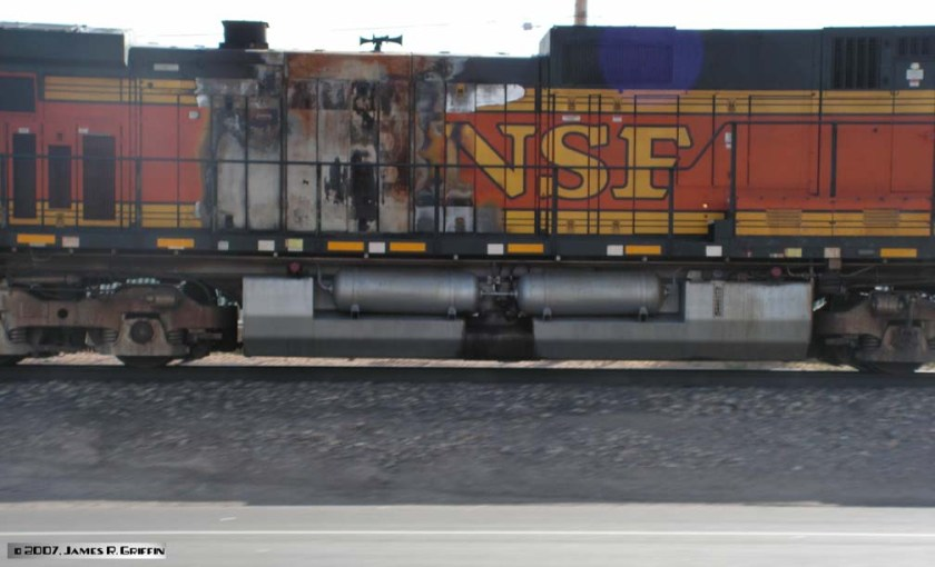 BNSF Las Cruces Burned