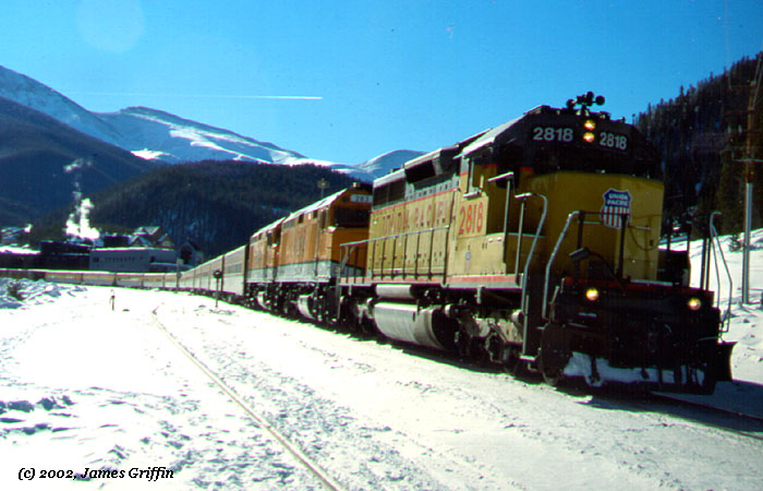 Ski Train Winter Park 02/10/1002 UP 2818